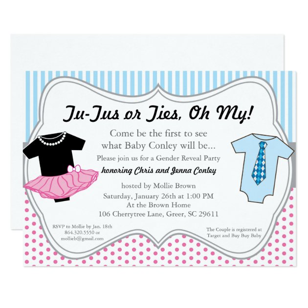 baby reveal invitations & announcements | zazzle, Baby shower invitations