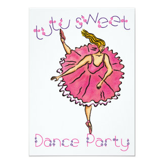 TutuSweet Dance Party Card
