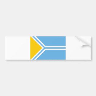Tuva ethnic flag tuvinians siberia bumper sticker
