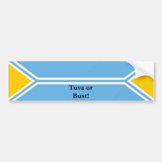 Tuva Flag - Tuva or Bust! Bumper Sticker