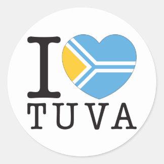 Tuva Love v2 Classic Round Sticker