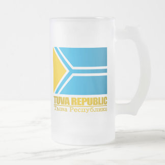 Tuva (Tyva) Republic Flag Frosted Glass Beer Mug