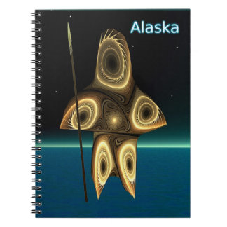 Tuvaaq - cazador del Inuit del fractal Note Book