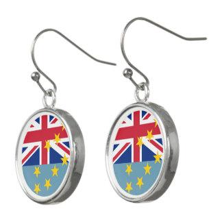 Tuvalu Flag Earrings