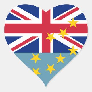 Tuvalu Flag Heart Sticker