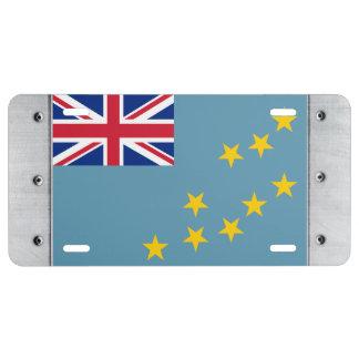 Tuvalu Flag License Plate