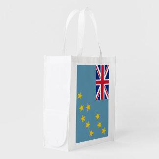 Tuvalu Flag Market Totes