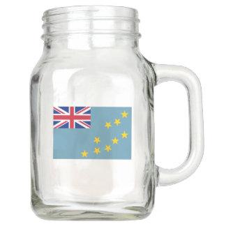 Tuvalu Flag Mason Jar