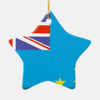 Tuvalu Flag Christmas Ornament