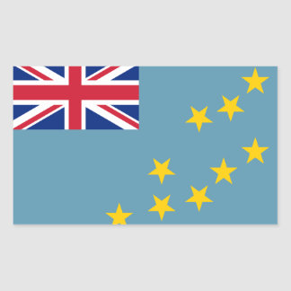 Tuvalu Flag Rectangular Sticker