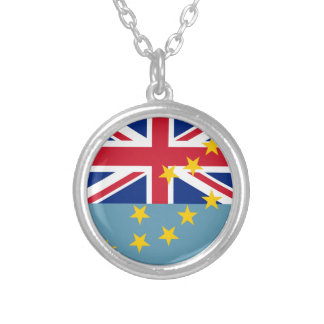 Tuvalu Flag Silver Plated Necklace