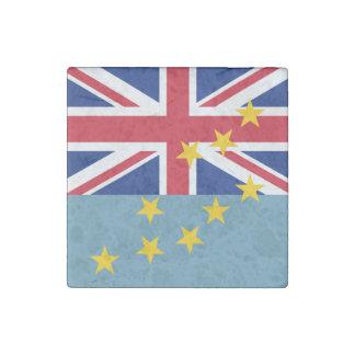 Tuvalu Flag Stone Magnet