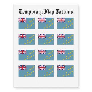 Tuvalu Flag Temporary Tattoos