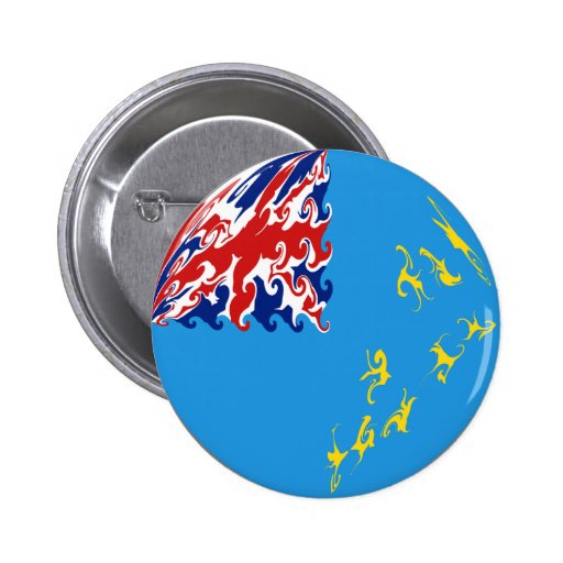 Tuvalu Gnarly Flag Buttons