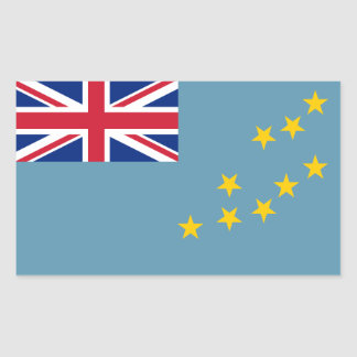 Tuvalu/Tuvaluan (Civil) Flag Rectangular Sticker