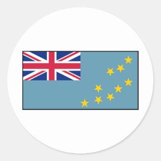 Tuvalu – Tuvaluan Flag Classic Round Sticker