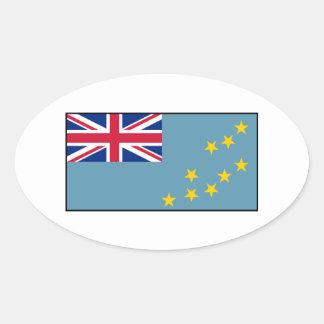 Tuvalu – Tuvaluan Flag Oval Sticker