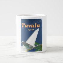 Tuvalu Vintage style travel poster