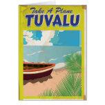 Tuvalu Vintage Travel Poster Card