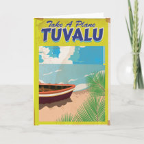 Tuvalu Vintage Travel Poster Holiday Card