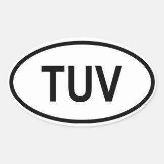 """Tuvalu """"YUV """" Calcomania Oval"""