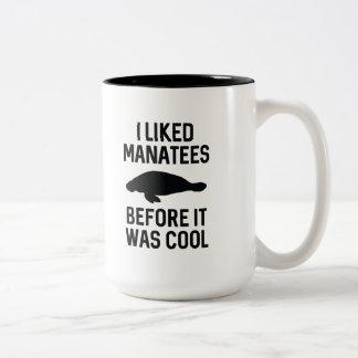 Tuve gusto de Manatees Taza De Café De Dos Colores