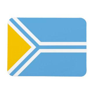 Tuvinians étnicos Siberia de la bandera de Tuva Imanes Rectangulares