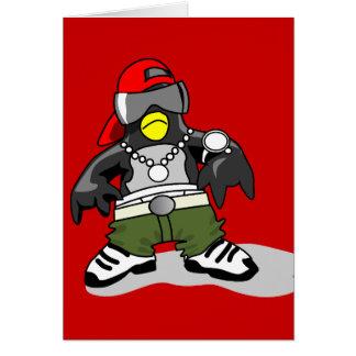 tux-30043 GANGSTER ATTITUDE FUNNY  tux penguin  da Card
