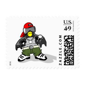 tux-30043 GANGSTER ATTITUDE FUNNY  tux penguin  da Stamp
