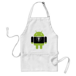 Tux androide delantal