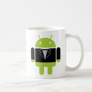 Tux androide taza