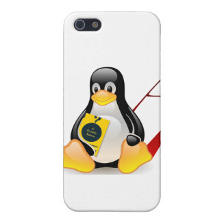 Tux ateo (la libertad se desarrolla) iPhone 5 carcasas