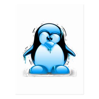 Tux azul frío de temblor postales