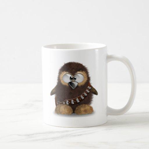 Tux borroso tazas de café