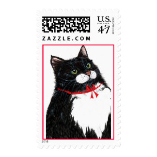 Tux Christmas cat Postage