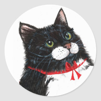 Tux Christmas Cat Stickers