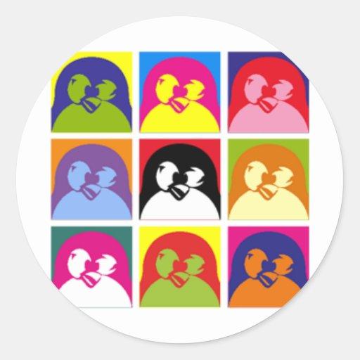 Tux Classic Round Sticker