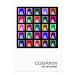 Tux cuadrado de la foto 045 - 25 tarjetas de visita grandes