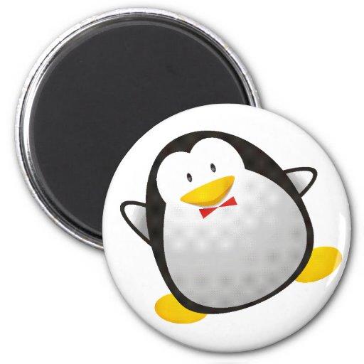 Tux de la imagen del linux del pingüino imán para frigorifico