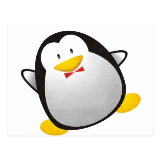 Tux de la imagen del linux del pingüino postales