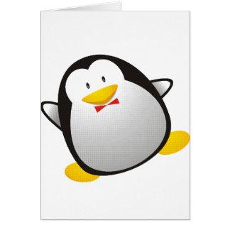 Tux de la imagen del linux del pingüino tarjeta de felicitación