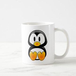 tux del pingüino del bebé taza clásica