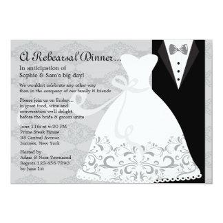 Tux e invitación del vestido