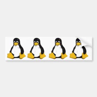 tux el pingüino del logotipo del linux pegatina de parachoque