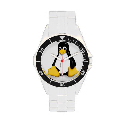 Tux el reloj del pingüino de Linux