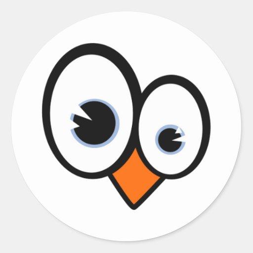 Tux Eyes Linux Penguin Sticker