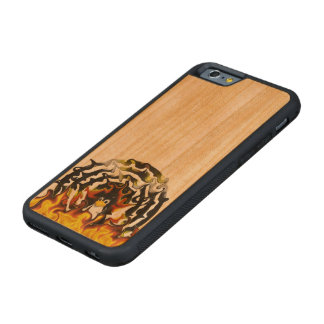 TUX Fire Target Carved® Cherry iPhone 6 Bumper