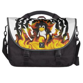 TUX Fire Target Laptop Bags