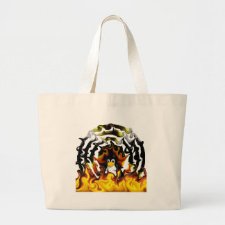 TUX Fire Target Large Tote Bag