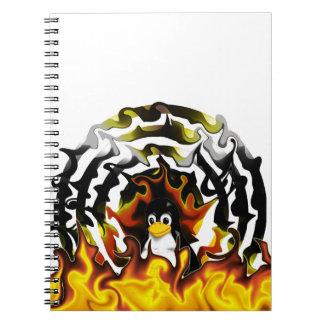 TUX Fire Target Spiral Notebook